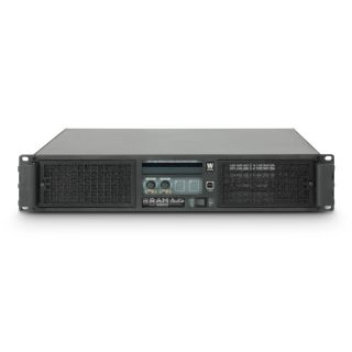 2 Ram Audio W 12000 DSP E AES - Finale di potenza PA 2 x 5900 W 2 Ohm incl. modulo DSP con ingresso digitale AES/EBU + Ethernet