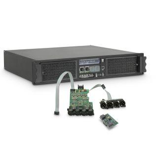 0 Ram Audio W 12004 DSP AES - Finale di potenza PA 4 x 3025 W 2 Ohm incl. modulo DSP con ingresso digitale AES/EBU