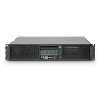 2 Ram Audio W 12004 DSP E AES - Finale di potenza PA 4 x 3025 W 2 Ohm incl. modulo DSP con ingresso digitale AES/EBU + Ethernet