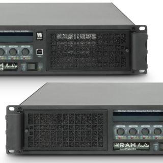 4 Ram Audio W 12004 DSP E AES - Finale di potenza PA 4 x 3025 W 2 Ohm incl. modulo DSP con ingresso digitale AES/EBU + Ethernet