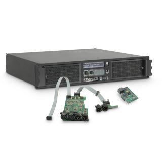 0 Ram Audio W 6000 DSP AES - Finale di potenza PA 2 x 3025 W 2 Ohm incl. modulo DSP con ingresso digitale AES/EBU