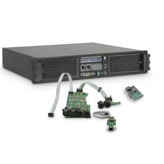 0 Ram Audio W 6000 DSP E AES - Finale di potenza PA 2 x 3025 W 2 Ohm incl. modulo DSP con ingresso digitale AES/EBU + Ethernet