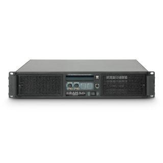 2 Ram Audio W 6000 DSP E AES - Finale di potenza PA 2 x 3025 W 2 Ohm incl. modulo DSP con ingresso digitale AES/EBU + Ethernet