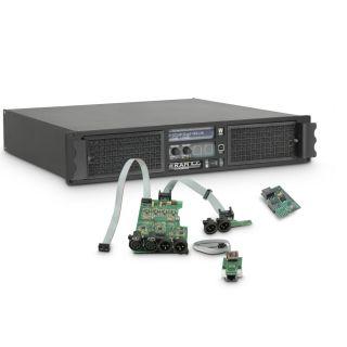 0 Ram Audio W 9000 DSP E AES - Finale di potenza PA 2 x 4400 W 2 Ohm incl. modulo DSP con ingresso digitale AES/EBU + Ethernet