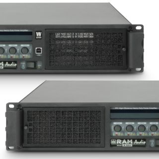 4 Ram Audio W 9044 DSP AES - Finale di potenza PA 4 x 2200 W 4 Ohm incl. modulo DSP con ingresso digitale AES/EBU