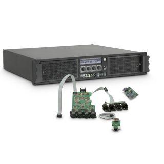 0 Ram Audio W 9044 DSP E AES - Finale di potenza PA 4 x 2200 W 4 Ohm incl. modulo DSP con ingresso digitale AES/EBU + Ethernet