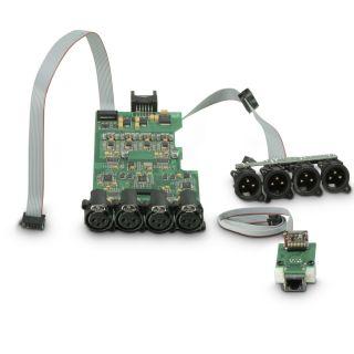 8 Ram Audio W 9044 DSP E AES - Finale di potenza PA 4 x 2200 W 4 Ohm incl. modulo DSP con ingresso digitale AES/EBU + Ethernet