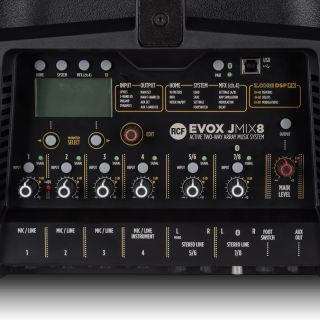 RCF Evox JMix 8 Black - Impianto Line Array con Mixer 700W RMS12