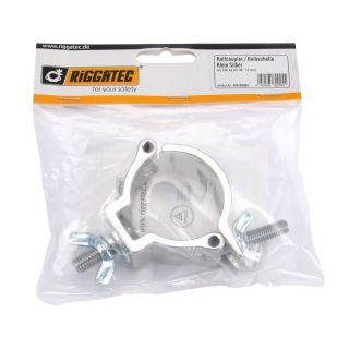 1 RIGGATEC RIG 400 200 000 - Half Coupler piccolo color argento fino a 100 kg (48-51 mm)