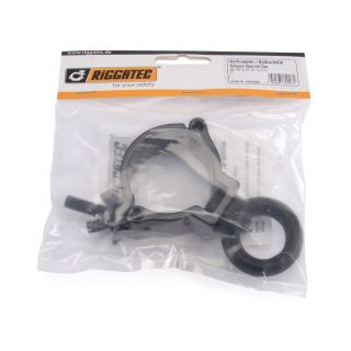 1 RIGGATEC RIG 400 200 056 - Halfcoupler Small Silver with Eyelet max. 100kg (48 - 51 mm)