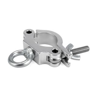 0 RIGGATEC RIG 400 200 085 - Halfcoupler Small Silver with ring max. load 170kg (48 - 51 mm)