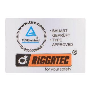 2 RIGGATEC RIG 400 200 960 - Halfcoupler Small Silver max. 75kg (32 - 35 mm)