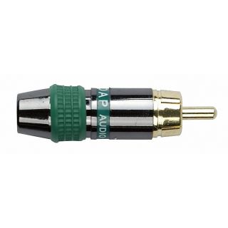 0 DAP-Audio - RCA Connector Male, Black housing - Cappuccio finale verde