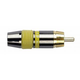 0 DAP-Audio - RCA Connector Male, Black housing - Cappuccio finale giallo