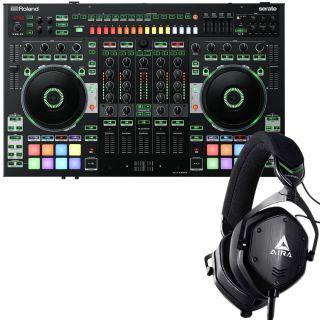 Roland DJ 808 Controller per DJ con Cuffie V-Moda M-100 Aira
