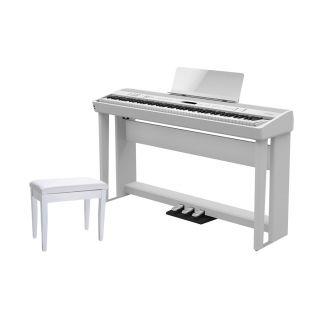 Roland FP 90 WH Set - Pianoforte Digitale / Stand / Pedaliera / Panchetta