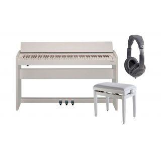 ROLAND F140R WH Pianoforte Digitale 88 Tasti Satin White con Mobile / Cuffie Monitor Professionali / Panchetta Regolabile