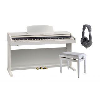 ROLAND RP501R WH Pianoforte Digitale con Mobile Bianco / Cuffie Monitor Professionali / Panchetta Regolabile