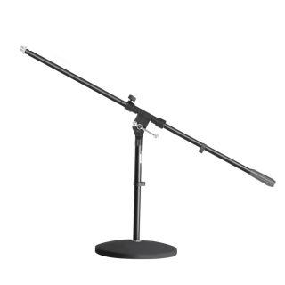 0 Adam Hall Stands S 7 B - Asta Microfonica con Base tonda e Braccio Orientabile