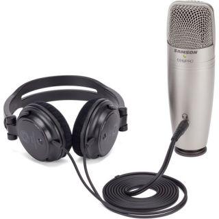 Samson C01U Pro Recording Pack - Microfono da Studio USB con Cuffie 2