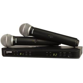 Shure BLX288E/PG58 T11 - Radiomicrofono Doppio Palmare UHF