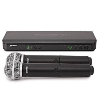 Shure BLX288E/PG58 M17 - Radiomicrofono Doppio Palmare UHF02