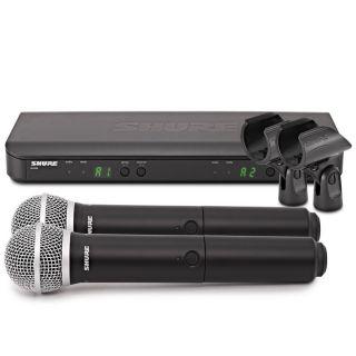 Shure BLX288E/PG58 M17 - Radiomicrofono Doppio Palmare UHF