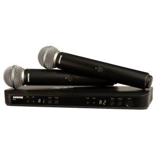 Shure BLX288E/SM58 T11 - Radiomicrofono Doppio Palmare UHF