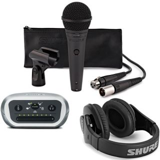 Shure Kit Registrazione Digitale Microfono PGA58 Interfaccia MVi Cuffie SRH240A