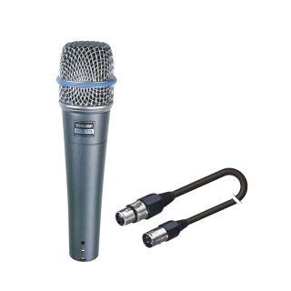 SHURE Beta 57A con Cavo Microfonico Professionale