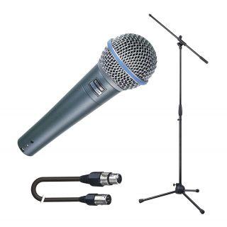 SHURE Beta 58A Pack per Cantanti: Microfono / Asta / Cavo