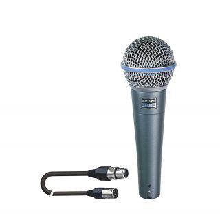 SHURE Beta 58A con Cavo Microfonico Professionale