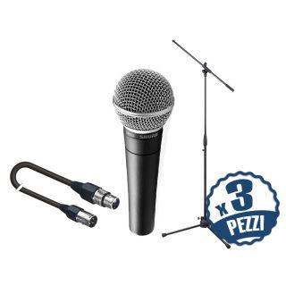 SHURE SM58 Pack per Coristi: Microfoni / Aste / Cavi x 3