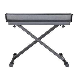 1 Adam Hall Stands SKT 17 - Banco tastiera ripiegabile con imbottitura ultraspessa