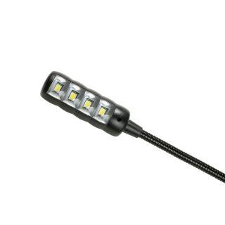 3 Adam Hall Stands SLED 1 ULTRA BNC - Lampada a collo di cigno BNC con 4 COB LED