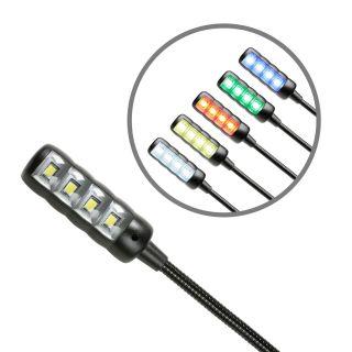 3 Adam Hall Stands SLED 1 ULTRA BNCC - Lampada a collo di cigno BNC con 4 COB LED e la selezione del colore