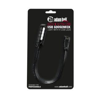 6 Adam Hall Stands SLED 1 ULTRA USB - Lampada a collo di cigno USB con 4 COB LED