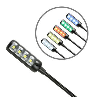 3 Adam Hall Stands SLED 1 ULTRA USB C - Lampada a collo di cigno USB con 4 COB LED e la selezione del colore