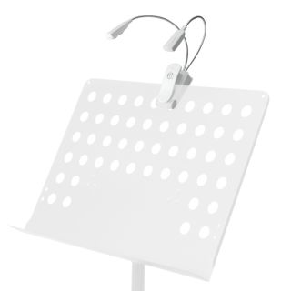 8 Adam Hall Stands SLED 2 PRO W - Lampada a LED per leggio, bianca