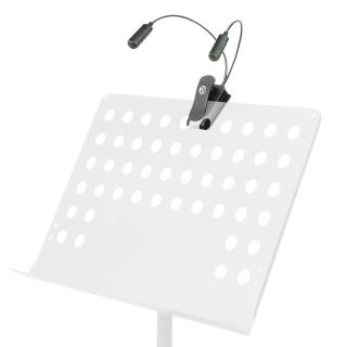 8 Adam Hall Stands SLED 2 ULTRA - Lampada con morsetto con 2 colli di cigno