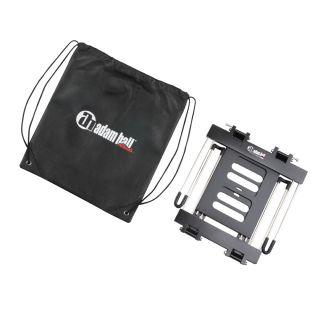 2 Adam Hall Stands SLT 006 B - Supporto per laptop pieghevole con superficie di appoggio nero