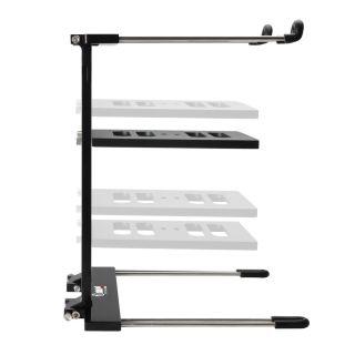 4 Adam Hall Stands SLT 006 B - Supporto per laptop pieghevole con superficie di appoggio nero