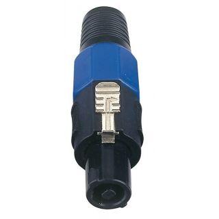 0 DAP-Audio - 4p. Speaker Connector Male - Cappuccio finale blu, maschio