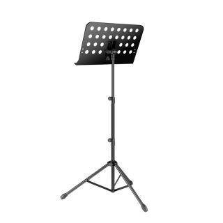 1 Adam Hall Stands SMS 11 PRO - Leggio estensibile per spartiti musicali, compatto, comprensivo di custodia