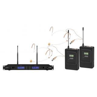 IMG Doppio Radiomicrofono ad Archetto Professionale UHF 1000 Canali