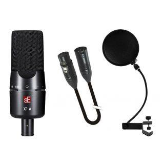 SE ELECTRONICS STUDIO BUNDLE X1A Microfono a Condensatore / Filtro Anti-Pop / Cavo Microfonico XLR/XLR 2mt