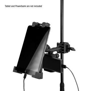 7 Adam Hall Stands THMS 1 - Supporto per tablet universale con accoppiatore multifunzione