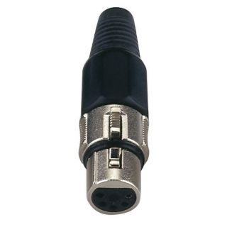 0 DAP-Audio - XLR 5p. Connector Female - Cappuccio finale nero, femmina
