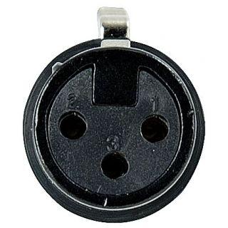0 DAP-Audio - XLR 3p. Connector Female, Black housing - Nero