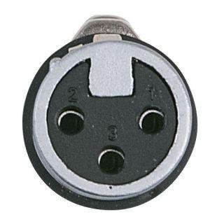 1 DAP-Audio - XLR 3p. X-type Female - Cappuccio finale nero